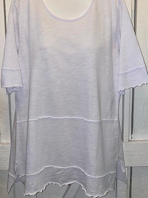 Ruffle tunic in White