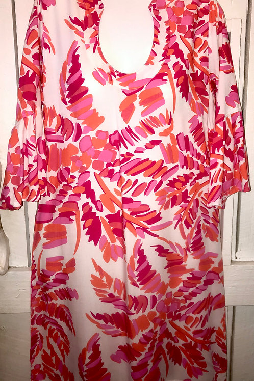 Charleston Tunic Dress in Pink/White