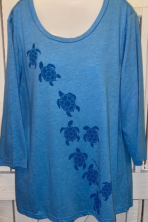 Turtle March tee in Sky Blue