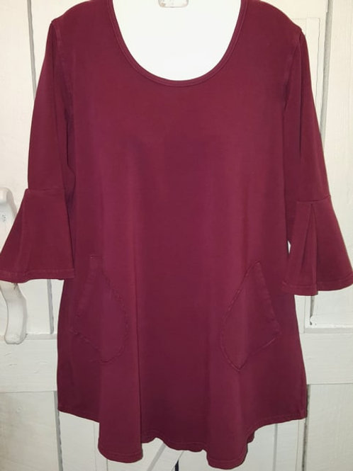 Rose Bell French Terry Tunic in Berry