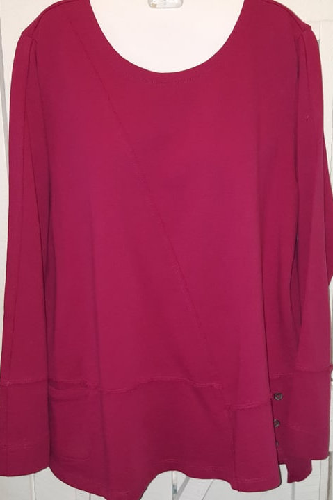 French terry Top in Berry