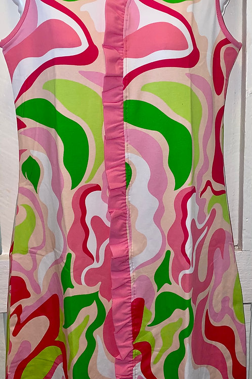Sydney Marble Tank Dress in Pink