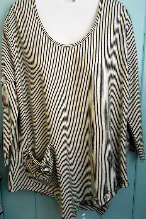 Striped Blouse Cream/Black