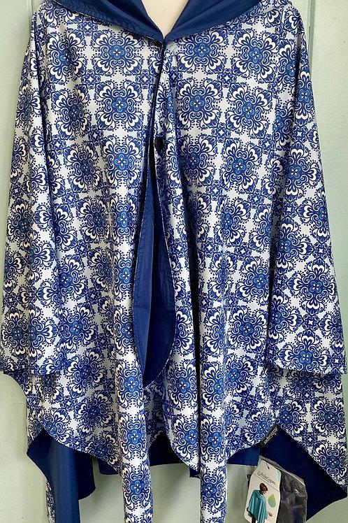 Rain Coat in China Blue