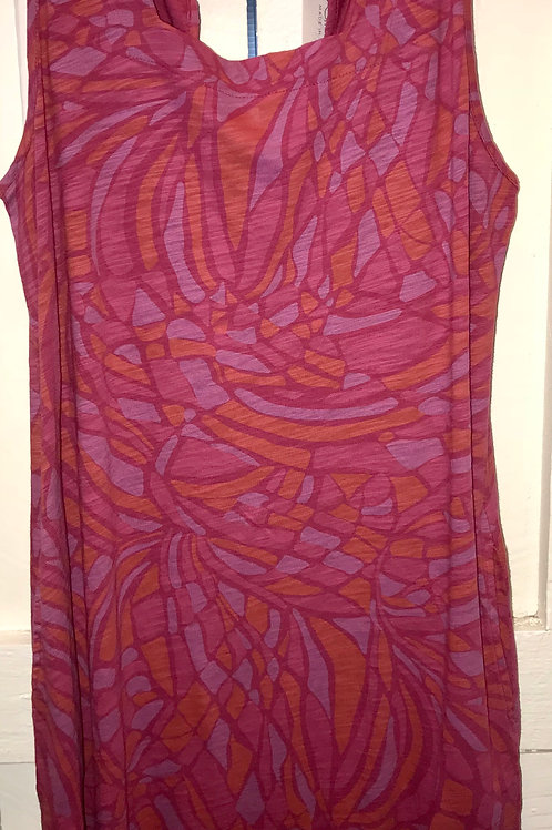 Square Neck Tank Dress Wine