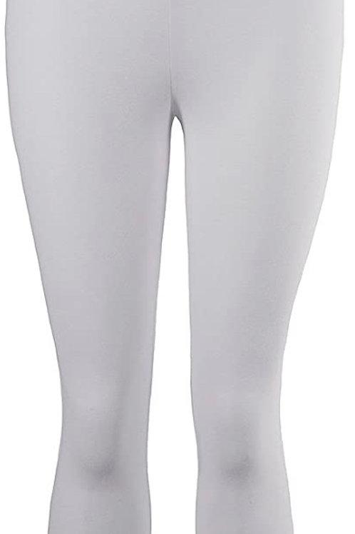 Jersey Cotton Capri Legging in White