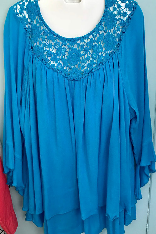 Crochet Blouse In Blue