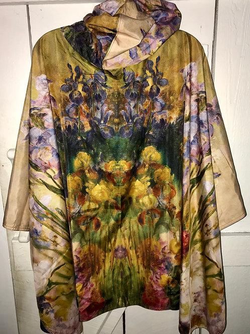 Rain Caper in Museum Tiffany Peonies & Irises