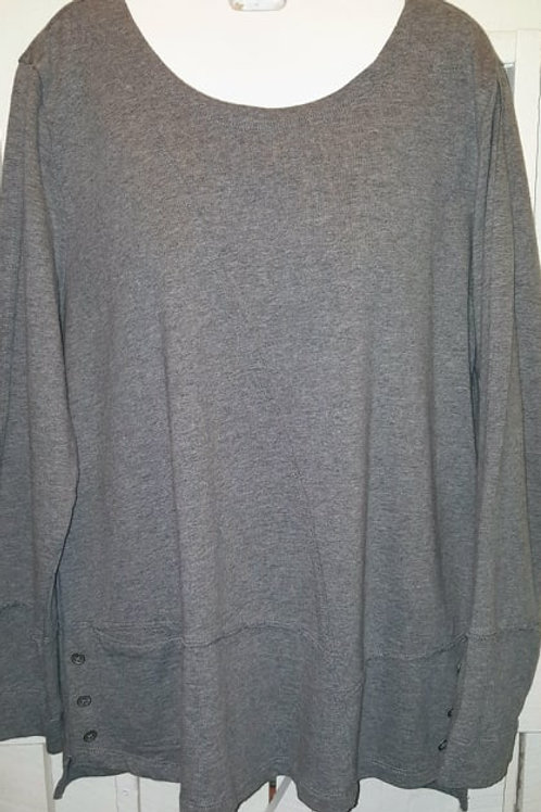 French terry Top in Grey