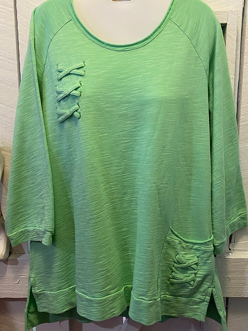 French Terry Tunic in Lime