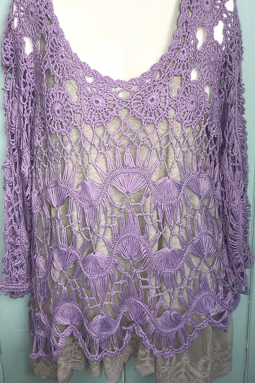 Crochet Top in Lilac