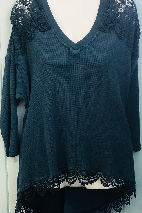 Lace Thermal In Teal