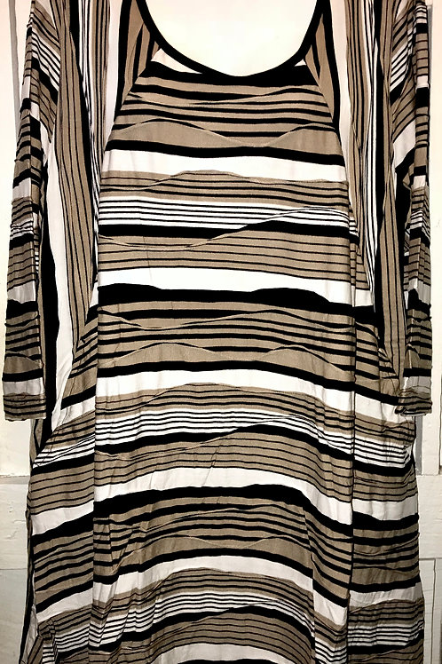 Arizona Stripe Tunic in Black