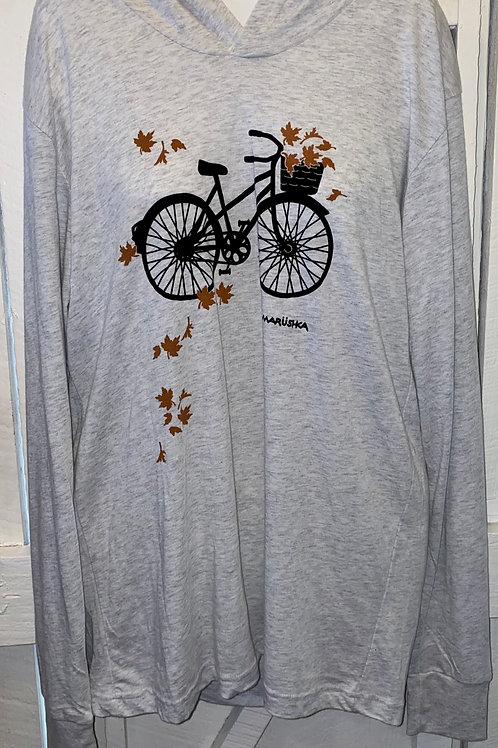 Fall Bike in Grey Slub Hoodie