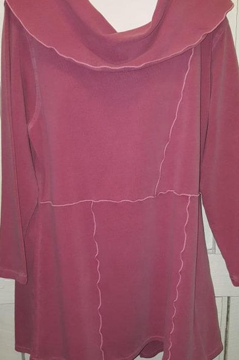 Cowl Neck Tunic in Blush