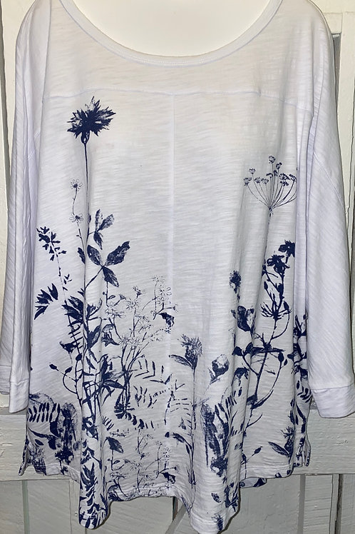 Wild Flowers Blouse in Denim