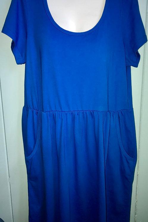 Short Sleeve Babydoll Dress in Scuba