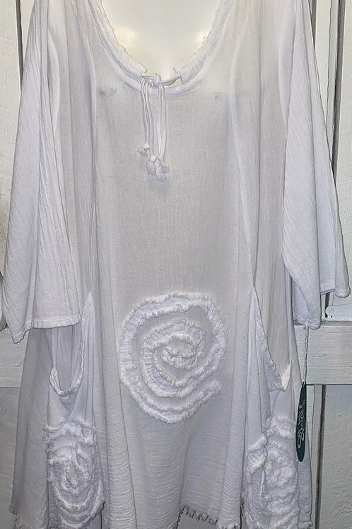 Circle Tunic in White