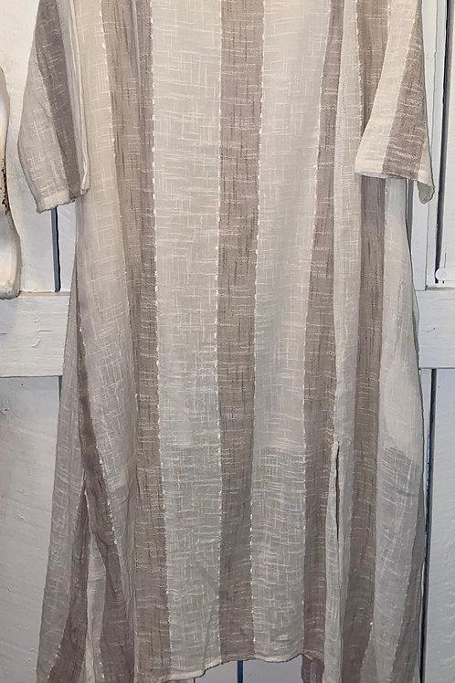 Striped Split Hem Dress