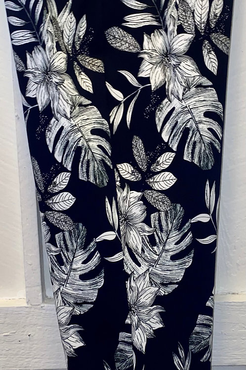 Floral Pants in Navy & White