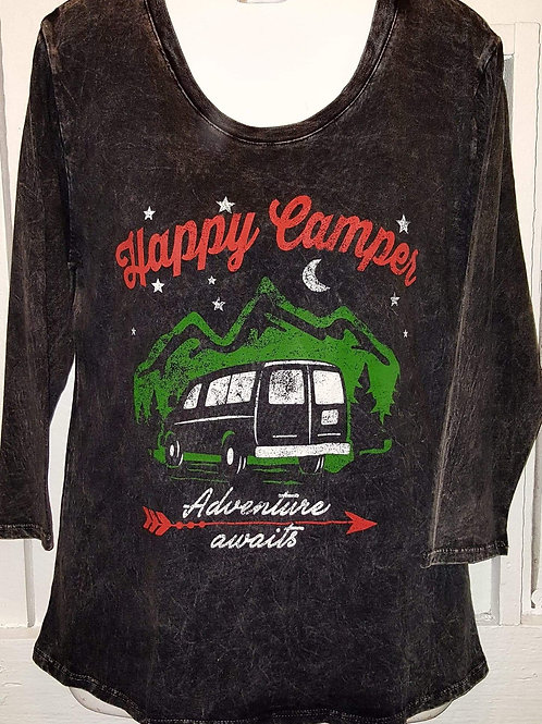 Happy Camper Distressed Tee
