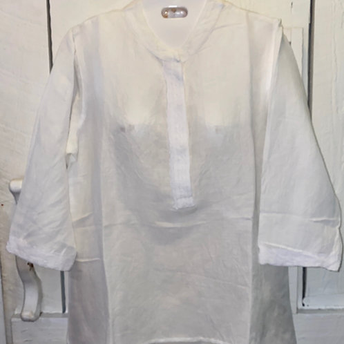 Linen Blouse in White