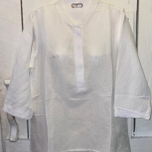 Linen Blouse in White