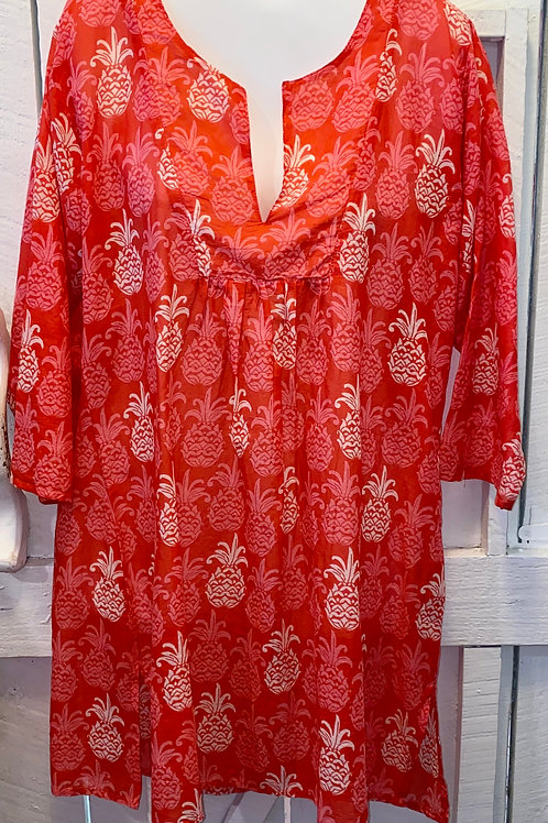 Mahalo Tunic in Red