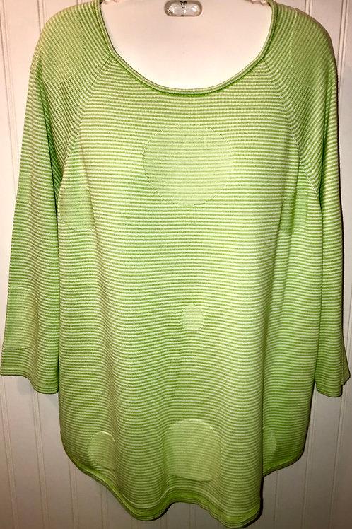 Stripe Polka Dot Sweater in Lime