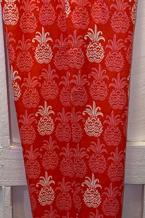 Mahalo Pineapple Pants in Red