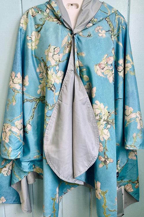 Rain Coat in Van Gogh Almond Blossom