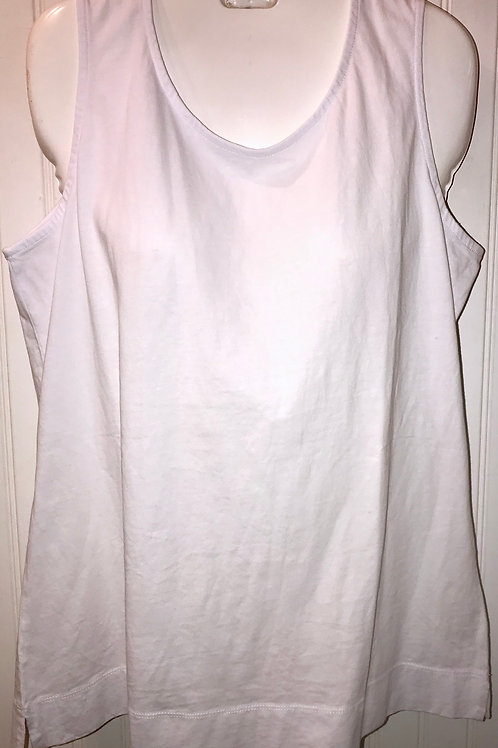 Cotton Tank Top in White