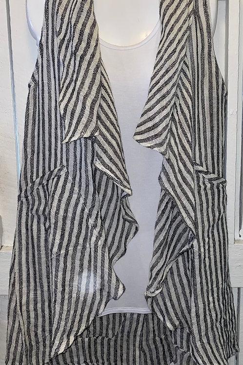 Linen Striped Vest
