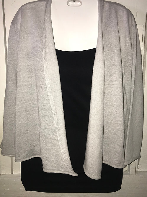 Linen knit Cardigan in Taupe