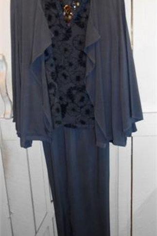 3/4 Kimono Sleeve Drape Jacket in Shark