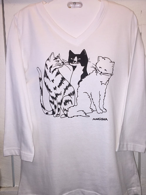 Cat Chat in White
