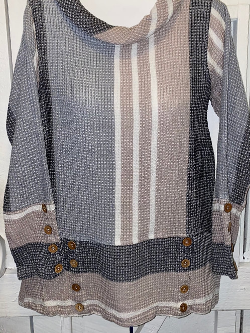 Cowl Neck Tunic in Taupe
