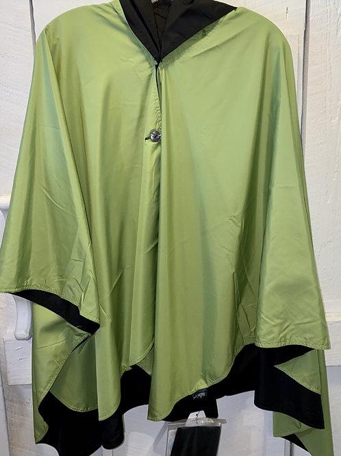 Rain Caper in Green/Black
