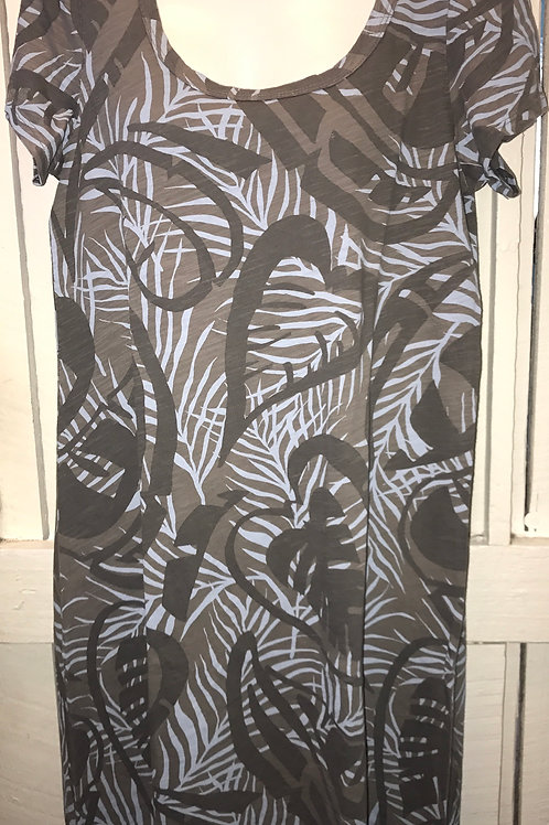 Short Sleeve Dress Paradise In Taupe