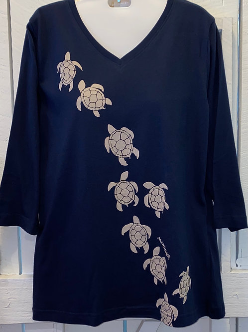 Turtle March in Navy