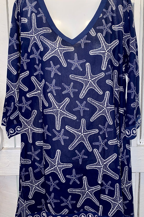 Sea Star Tunic in Navy
