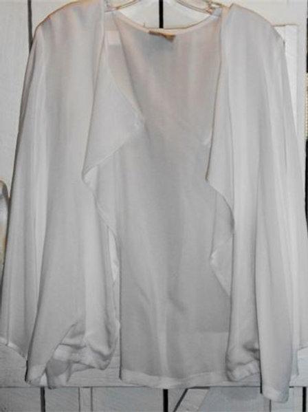 Kimono Sleeve Drape Jacket In White