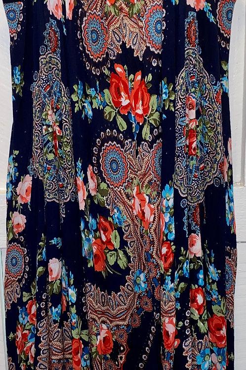 Crochet Asymmetrical Dress in Navy