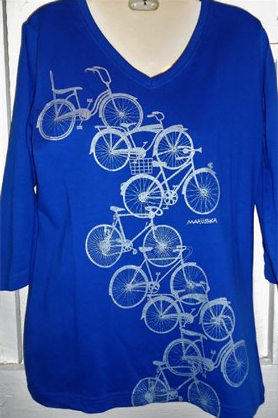 Bike Trail Top In Silver/Royal