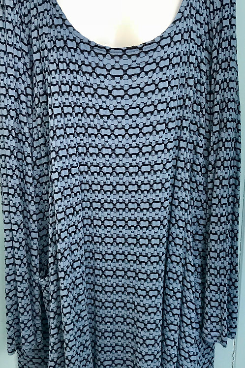 Bubble Tunic In IcyBlue/Black