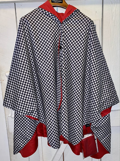 Rain Caper Houndstooth in Red