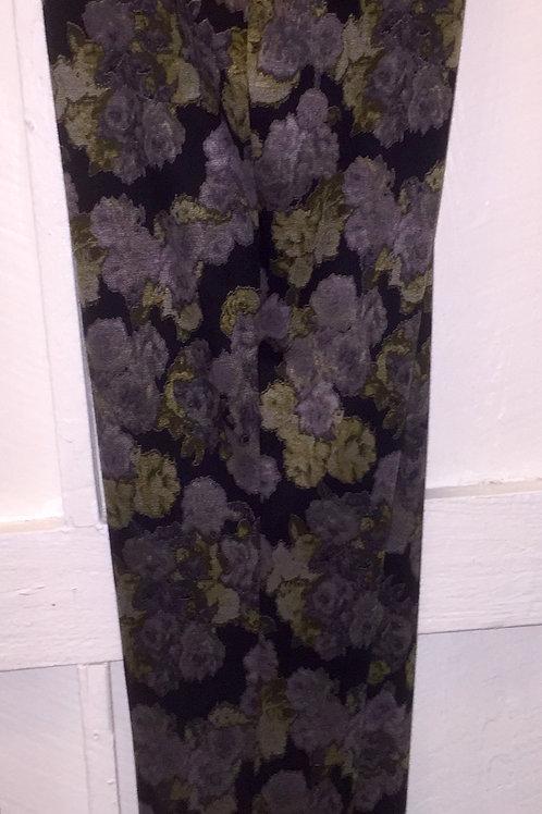 Floral Pants in Olive