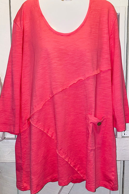 Pocket Tunic in Guava Pink