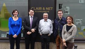 Clair&Net au travail avec Eric Lejoindre, Maire du 18e