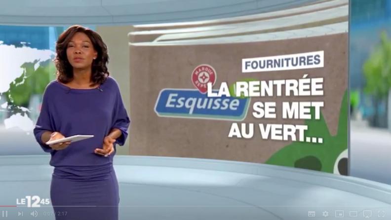 M6 12h45 - La rentrée scolaire éco-responsable (avec courte interview Alexandre Pasche, Eco&co)